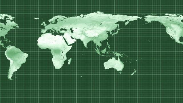 World map. video