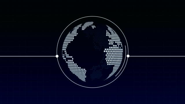 weltkarte white globe loop animation stockvideo - weltkarte stock-videos und b-roll-filmmaterial