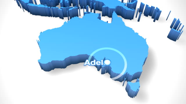 3D World Map Zoom Australia 2 video