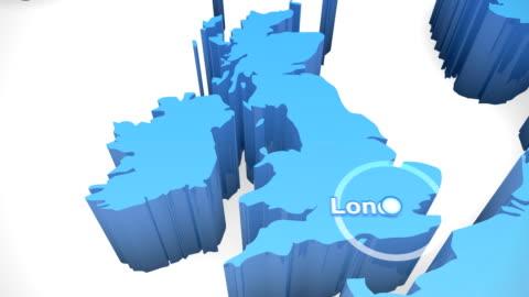 vídeos y material grabado en eventos de stock de 3 d world map zoom reino unido 1 - europa continente