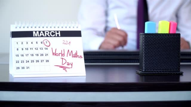 world maths day - speciella dagar - calendar workout bildbanksvideor och videomaterial från bakom kulisserna