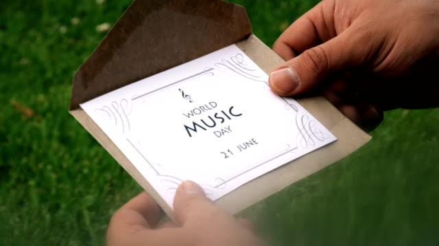 World Music Day (21 June) Letter