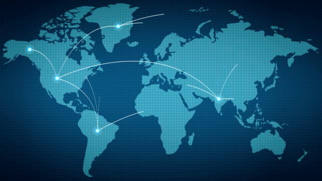 dünya ağ bağlantısı - coğrafi konum stok videoları ve detay görüntü çekimi