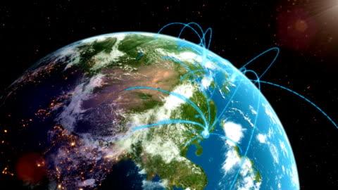 world network loop - seyahat destinasyonları stok videoları ve detay görüntü çekimi