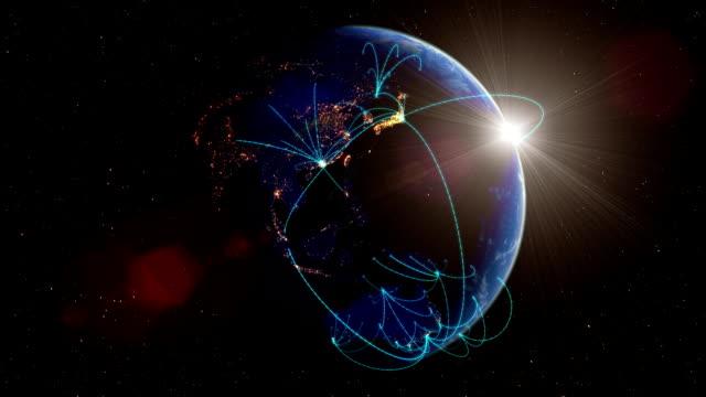 世界的ネットワークループ - グローバル点の映像素材/bロール