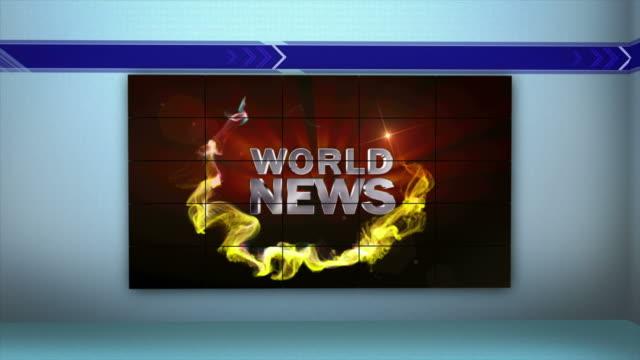 stockvideo's en b-roll-footage met nieuws van de wereld en monitoren tunnel, loop, 4k - magazine mockup