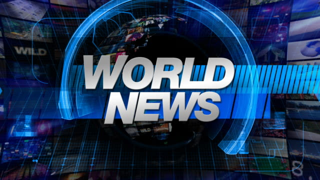 World News - Broadcast Graphics Title video