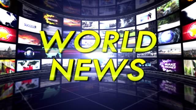 world news text in monitors room, loop - paper mass bildbanksvideor och videomaterial från bakom kulisserna