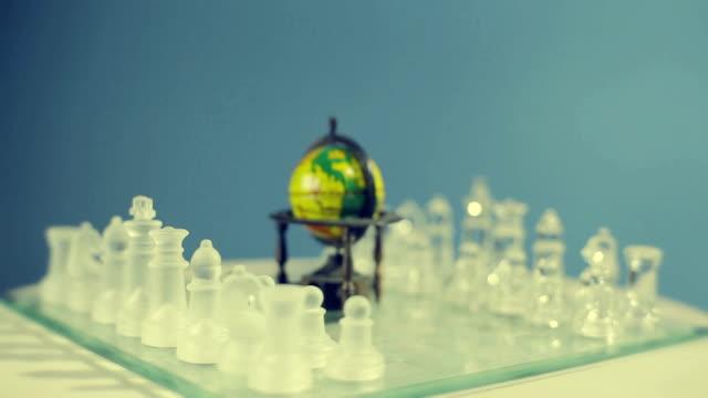 world of schach - dominanz stock-videos und b-roll-filmmaterial