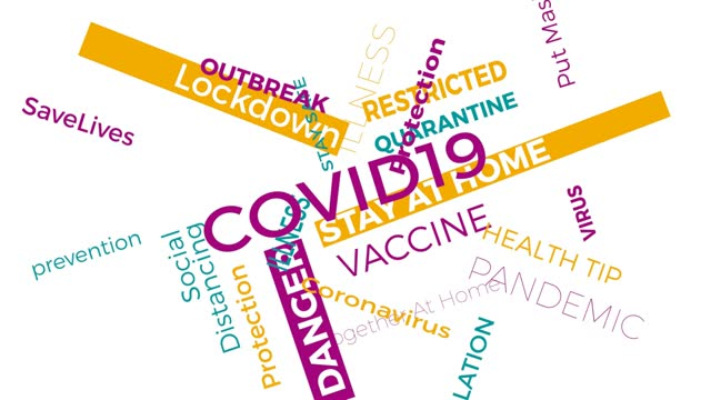 COVID19 world tag word cloud motion background concept. 4K rendering COVID 19 and Coronavirus tag cloud, colored flat design. COVID19 world tag word cloud motion background concept. 4K rendering COVID 19 and Coronavirus tag cloud, colored flat design. covid vaccine stock videos & royalty-free footage