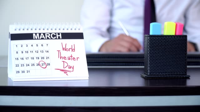världen theater dag - speciella dagar - calendar workout bildbanksvideor och videomaterial från bakom kulisserna