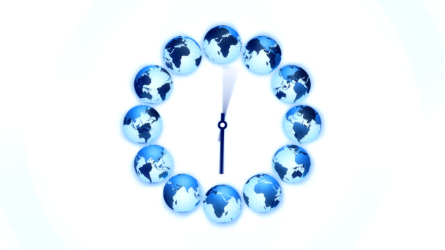 World time clock video