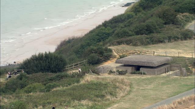 World War 2 Bunkers  - Aerial View - Lower Normandy, Calvados, Arrondissement de Bayeux, France