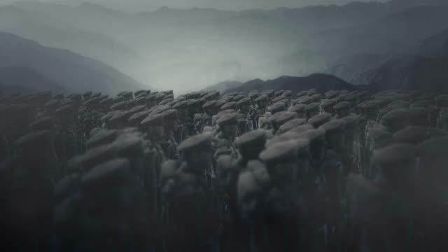 vidéos et rushes de troupes britanniques de la première guerre mondiale debout dans un champ de bataille - première guerre mondiale