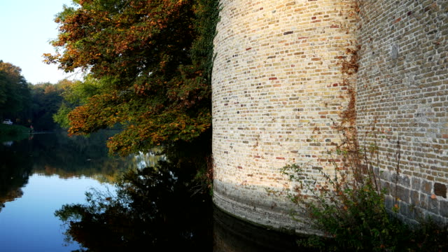 World war one in Belgium: Ypres today, autumn around ramparts walking path video
