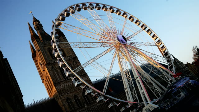 World war one in Belgium: Ypres today, big wheel on main square video