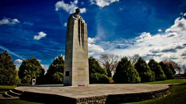 World war one monument  :  canadian forces memorial, Ypres video