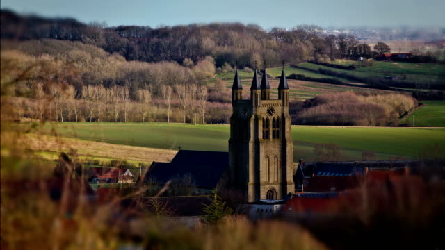 world war one towns and villages  :  loker, flanders, belgium - belgio video stock e b–roll