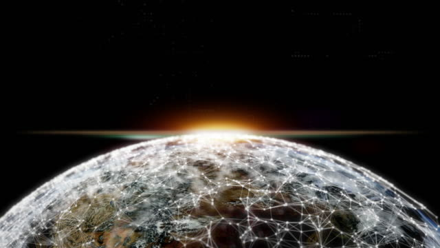 world wide connection, digital connection plexus around earth plannet world wide connection, digital connection plexus around earth plannet, futuristic digital marketing and block chain concept, finished by NASA digital marketing stock videos & royalty-free footage