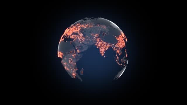 weltbevölkerung globus - bevölkerungsexplosion stock-videos und b-roll-filmmaterial