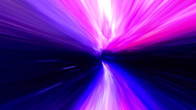 Wurmloch Raum reisen lila – Video