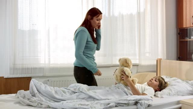HD: Worried Mother Calling Doctor video