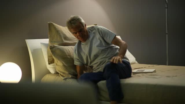 Worried Senior Man Waking Up; Full HD Photo JPEG Worried senior man waking up; Full HD Photo JPEG insomnia stock videos & royalty-free footage