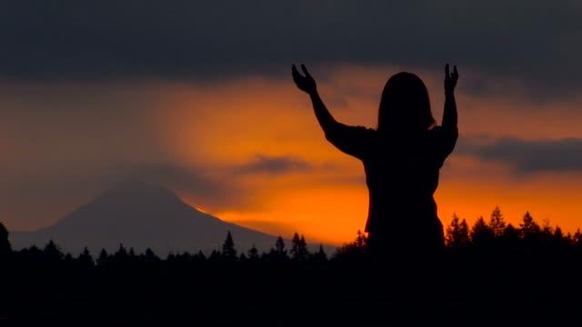 worship at sunrise #2 - god stock videos & royalty-free footage