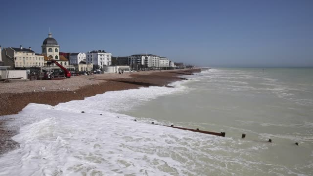 worthing west sussex - sussex occidentale video stock e b–roll