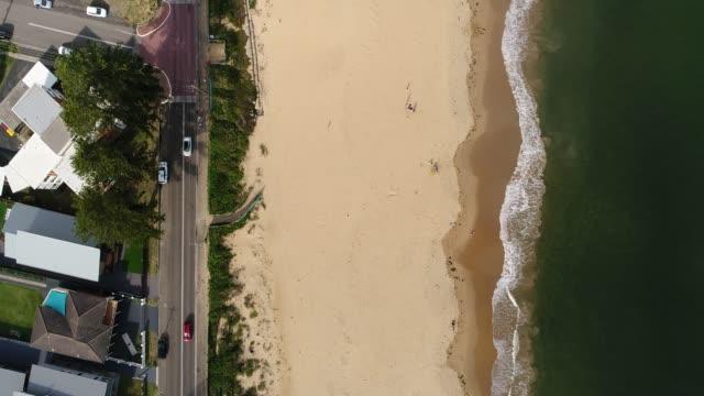woy woy beach top down - ocean front properties stock videos & royalty-free footage