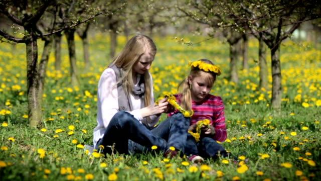 Wreath of dandelions video