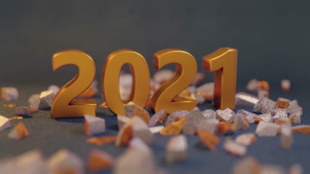 Wrecking new year change 2020 to 2021 Wrecking, smashing new year change 2020 to 2021 happy new year 2021 stock videos & royalty-free footage