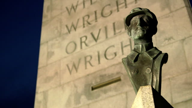 Wright Brothers National Monument Wilbur Slow Tilt video