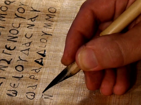 Writing ancient manuscript video