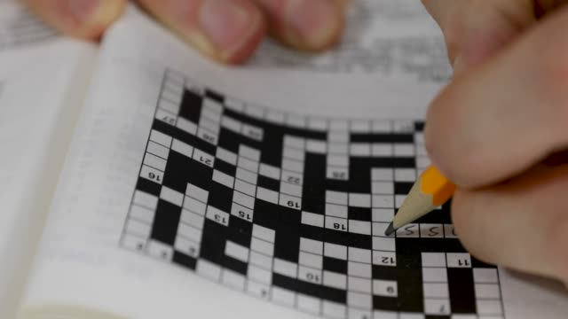 writing answer in crossword puzzle