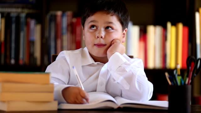 writing boy video