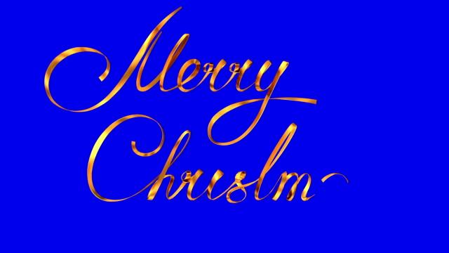 """skriva gyllene band text """"god jul"""" över blå bakgrund. - blue yellow band bildbanksvideor och videomaterial från bakom kulisserna"""
