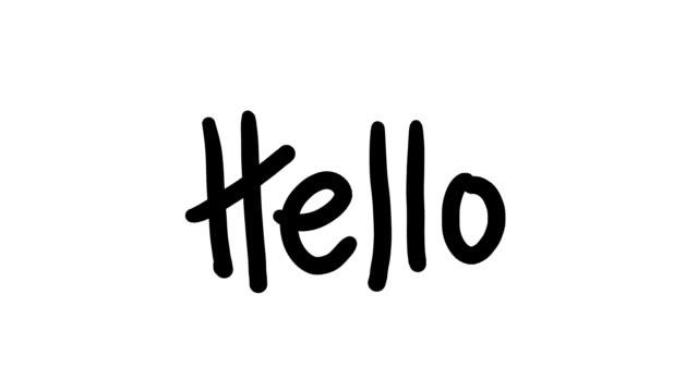 Writing Hello on White video