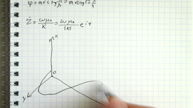 Writing lecture notes in physics timelapse video