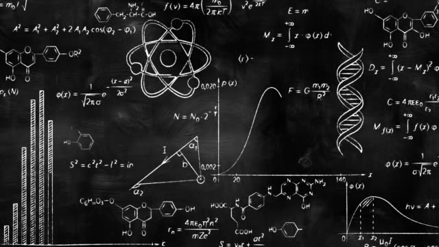 writing scientific formulas on black chalkboard writing scientific formulas on black chalkboard, computer generated blackboard visual aid stock videos & royalty-free footage