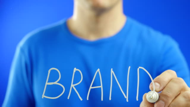 Writing the word. BRAND. video