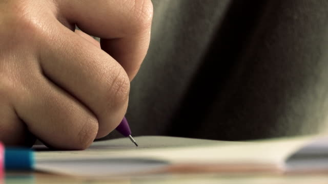 writing with a pen close up of writing with a pen endorsing stock videos & royalty-free footage