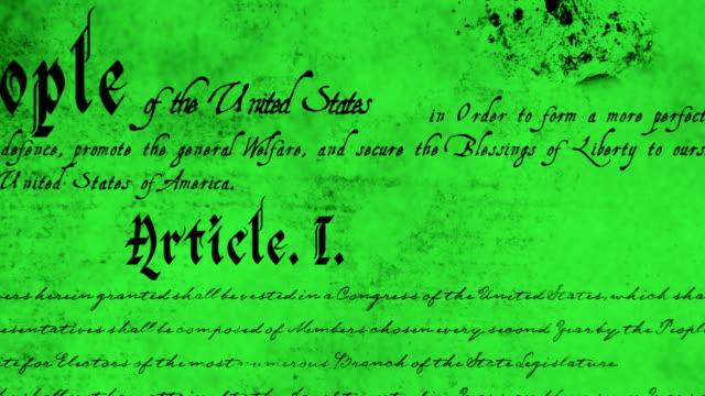 vidéos et rushes de constitution écrite des états-unis 4k - démocratie