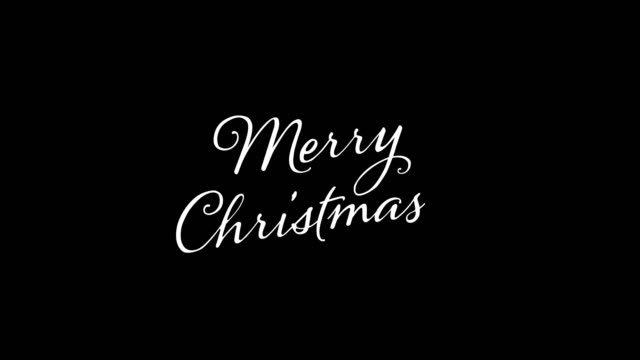written merry merry christmas vintage calligraphy text isolated on alpha channel. lettering flourish elements. christmas holiday - cena di natale video stock e b–roll