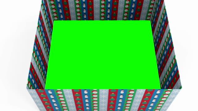 クリスマスボックスの移行 - プレセントの箱点の映像素材/bロール