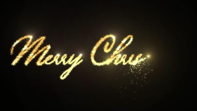vídeos de stock e filmes b-roll de xmas lighting message merry christmas - christmas card