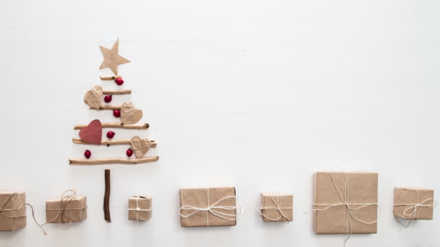 Xmas tree stop motion Xmas tree stop motion wrapped stock videos & royalty-free footage