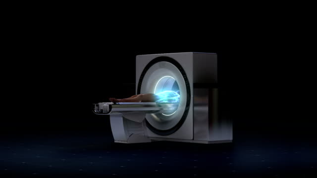 X-ray CT scanner, medical diagnosis technology.MRI process. video
