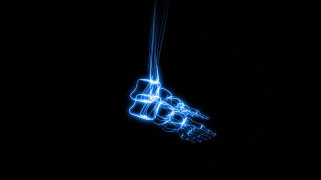 x 線の人間の足&足首(hd - 人の脚点の映像素材/bロール