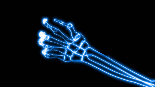 X-Ray of Human Hand Grasping (HD) video